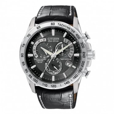 Gent's S/Steel Perpetual Chrono A-T Watch AT4000-02E