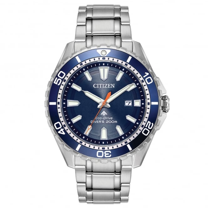 Gent's S/Steel Promaster Divers Eco-Drive Watch BN0191-55L