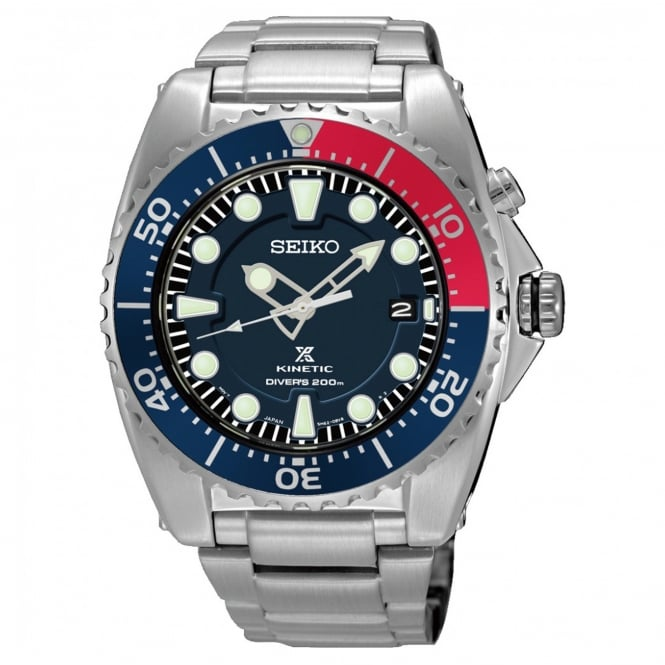 Gent's S/Steel Prospex Kinetic Divers Watch SKA759P1