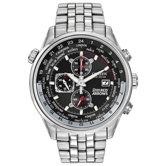 Gents S/Steel Red Arrows Chrono Eco-Drive Watch CA0080-54E