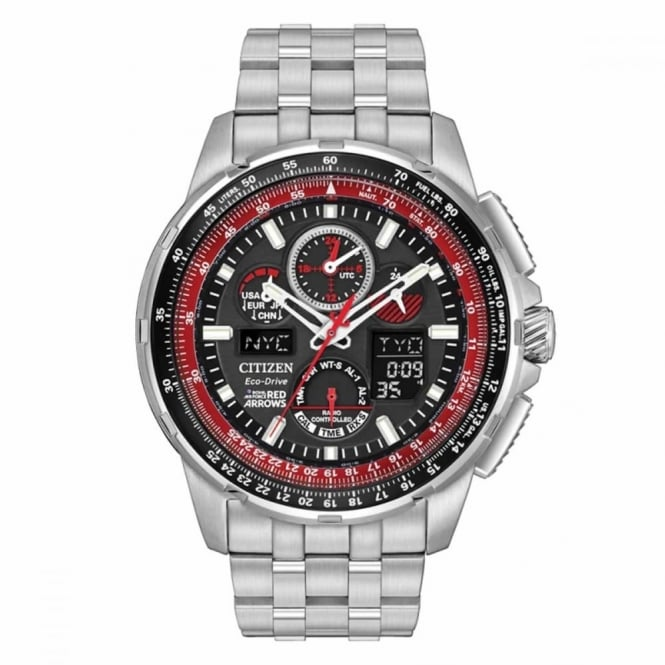 Gent's S/Steel Red Arrows Sky Hawk Watch JY8059-57E