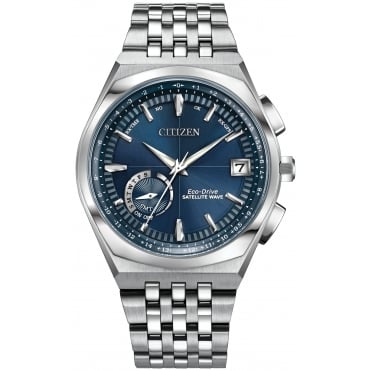 Gent's S/Steel Satellite Wave GPS Eco-Drive Watch CC3020-57L