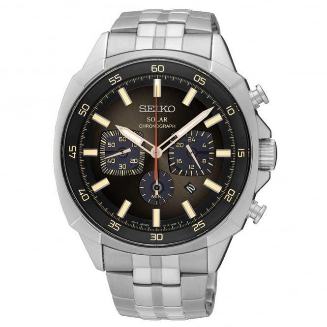 Gent's S/Steel Solar Chronograph Watch SSC511P9