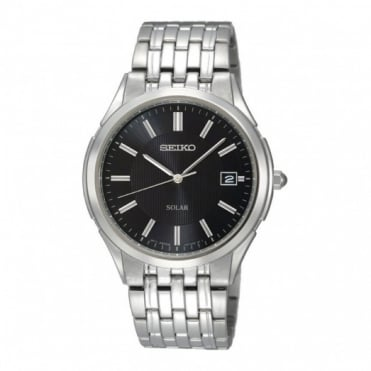 Seiko Gents S/Steel Solar Watch SNE127P1