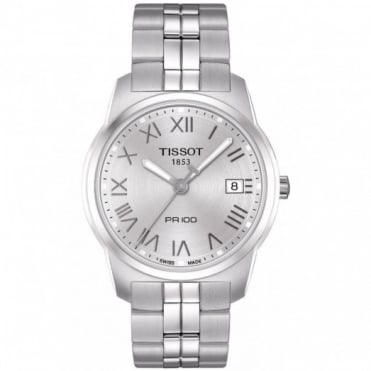 Tissot Gents S/Steel T-Classic PR100 Watch T049.410.11.033.01
