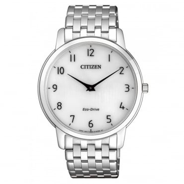 Gent's S/Steel Ultra Slim Eco-Drive Watch AR1130-81A