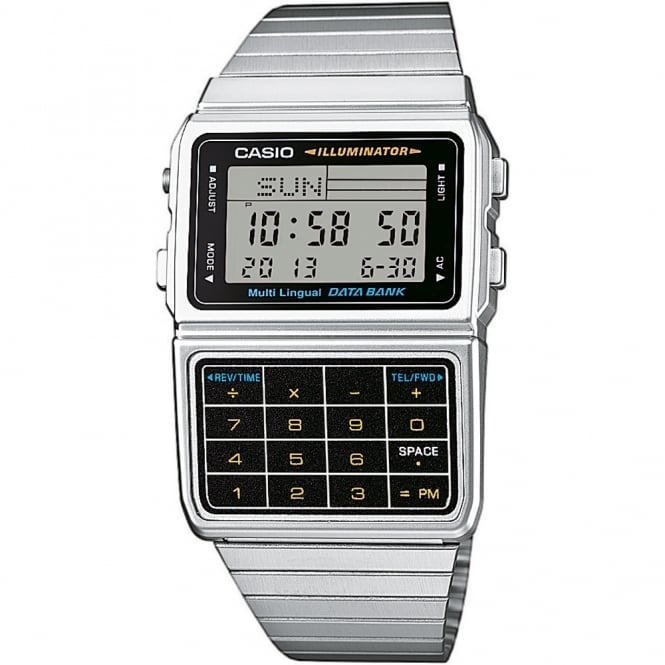 Gents Stainless Steel Calculator Watch DBC-611E-1EF