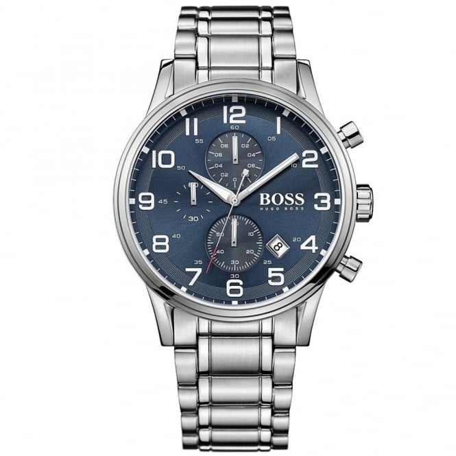 Hugo Boss Gents' Stainless Steel Chronograph Aeroliner Watch 1513183