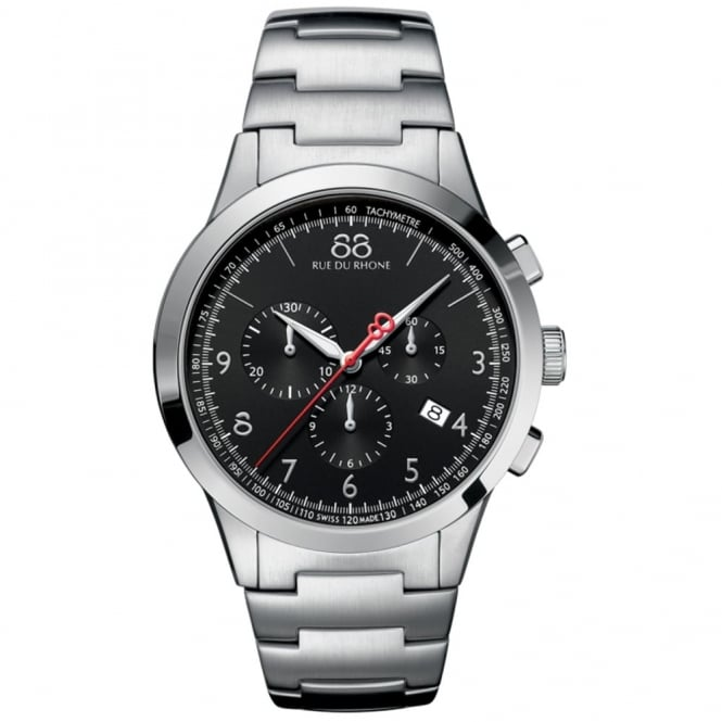 Gents' Stainless Steel Chronograph Rive Watch 87WA154309