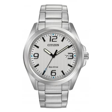 Gent's Stainless Steel Eco-Drive Watch AW1430-86A