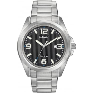 Gent's Stainless Steel Eco-Drive Watch AW1430-86E
