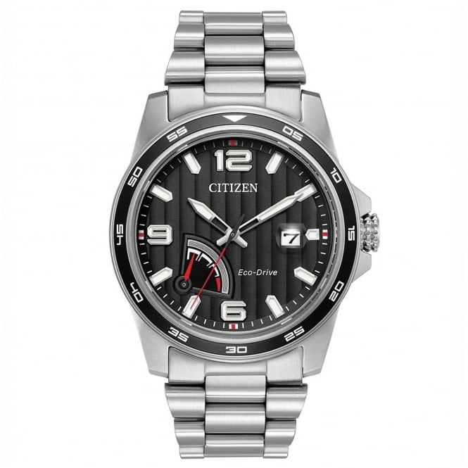 Gent's Stainless Steel Eco-Drive Watch AW7030-57E