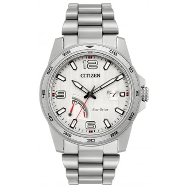 Gent's Stainless Steel Eco-Drive Watch AW7031-54A