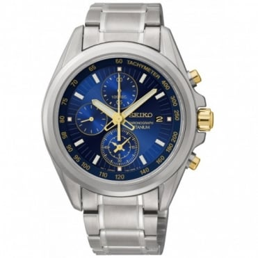 Seiko Gents Titanium Chronograph Watch SNDE59P1
