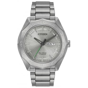 Gent's Titanium Eco-Drive Watch AW0060-54A