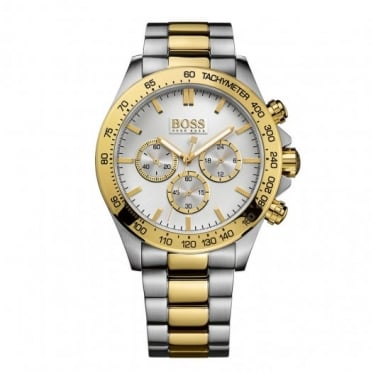 Hugo Boss Gent's Two Tone Chrono Ikon Watch 1512960