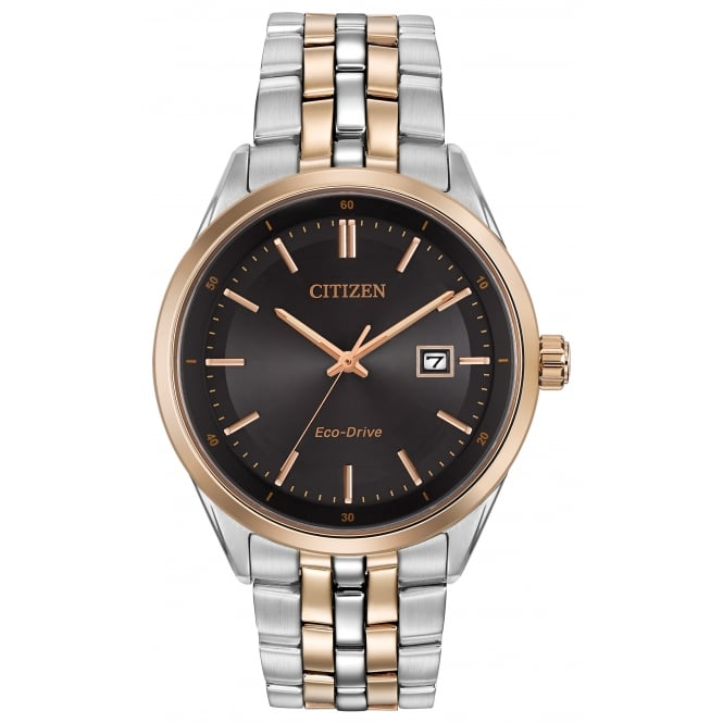 Gent's Two Tone Eco-Drive Watch BM7256-50E