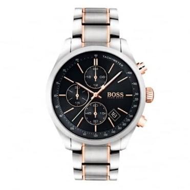 Hugo Boss Gent's Two Tone Grand Prix Chrono Watch 1513473