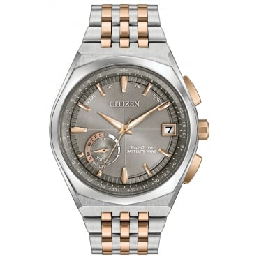 Gent's Two Tone Satellite Wave GPS Eco-Drive Watch CC3026-51H