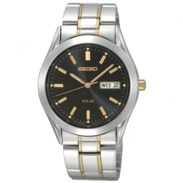 Seiko Gent's Two Tone Solar Watch SNE047