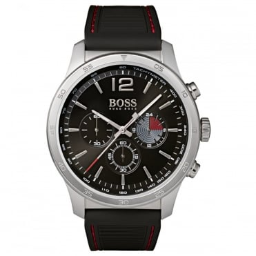 Gents's Black Rubber Professional Chronograph Watch 1513525