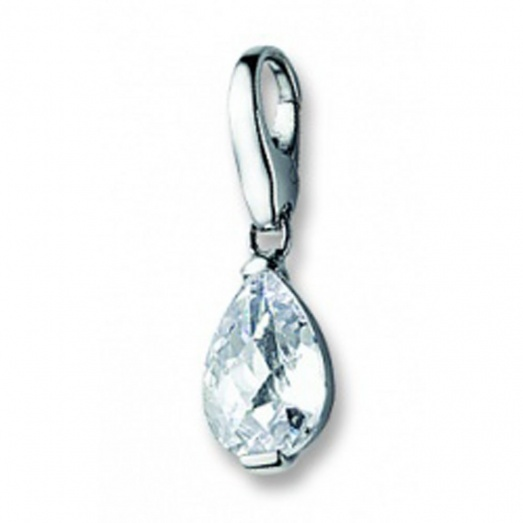 Giorgio Martello My Lucky Charms White CZ Teardrop GM118