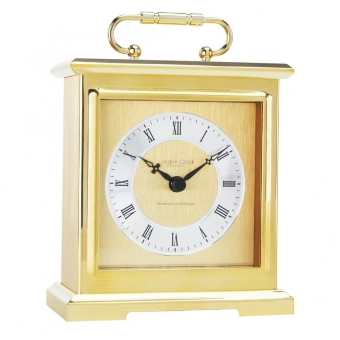 Gold Carriage Westminster Chime Clock 02101