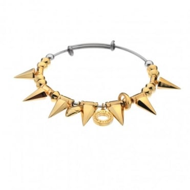 Gold Plate Spike Bangle DC148