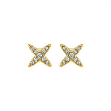 1a66e297b Adore Jewellery by Swarovski Gold Plated 4 Point Star Earrings 5259858