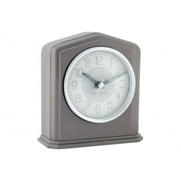 Grey Gloss Mantel Clock 06424