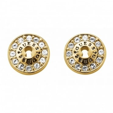 All Locked Up Gold Plated Earrings UBE71330