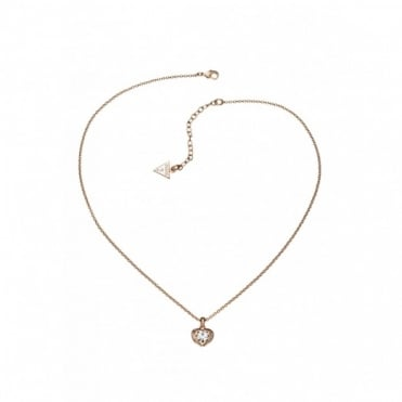 Guess Crystals Of Love Necklace UBN51421