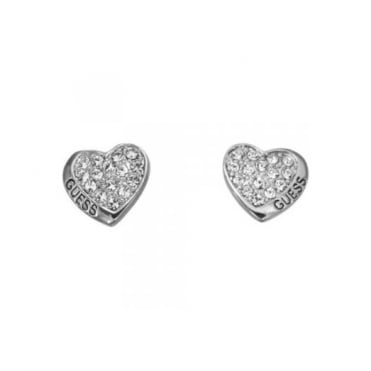 Guess Desert Beauty Heart Stud Earrings UBE11410