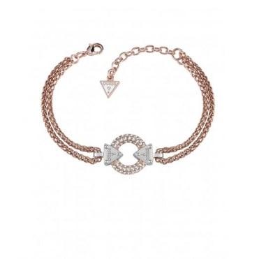 Guess Embrace Me Rose Pave Bracelet UBB71508-L