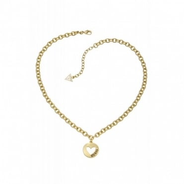 Guess G Girl Gold Plate Necklace UBN51431