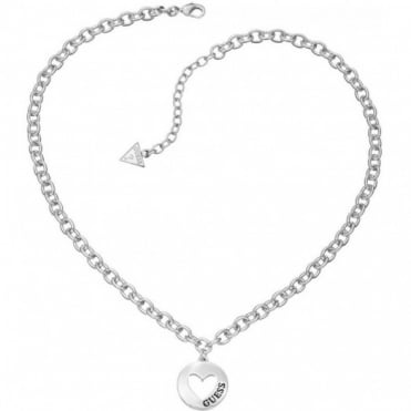 Guess G Girl Silver Plate Necklace UBN51430