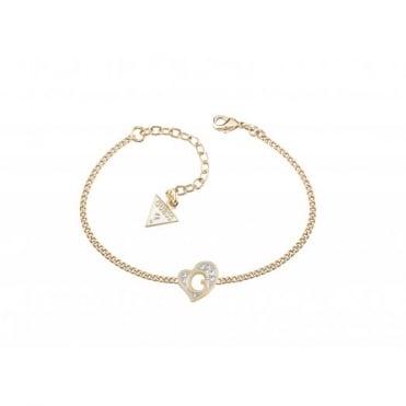 Guess G Hearts Gold Plate Bracelet UBB71528-L