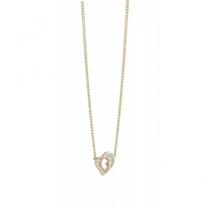 G Hearts Gold Plate Necklace UBN71537
