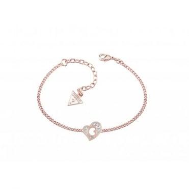 Guess G Hearts Rose Plate Bracelet UBB71529-L