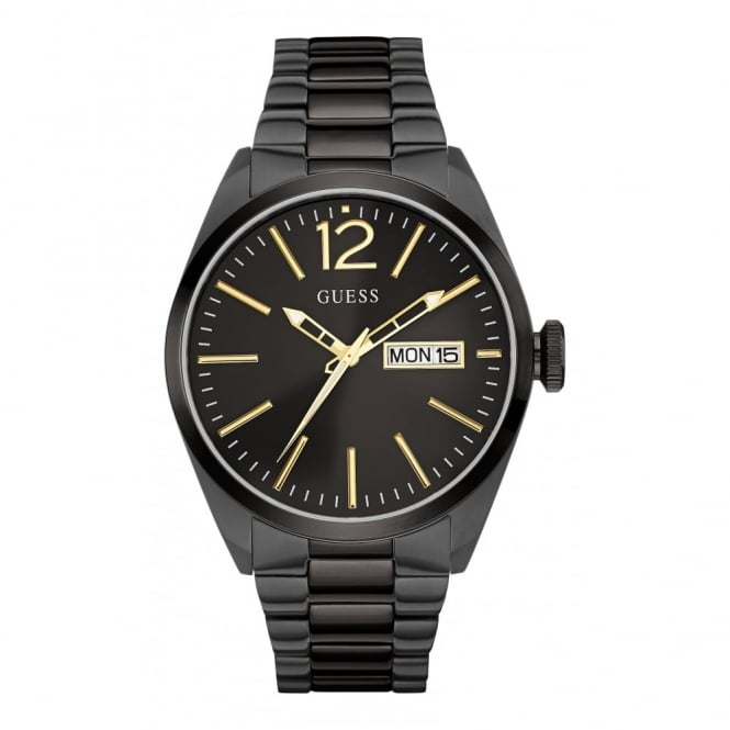 Guess Gent's Black Ion Plate Vertigo Watch W0657G2