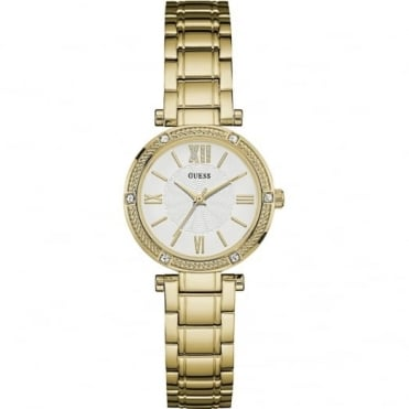 Guess Ladies' Gold Plate Park Avenue South Watch W0767L2