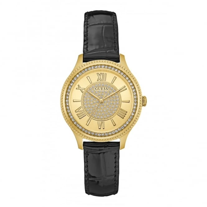 Guess Ladies' Gold Plate Stone Set Madison Watch W0840L1