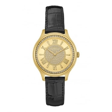 Ladies' Gold Plate Stone Set Madison Watch W0840L1