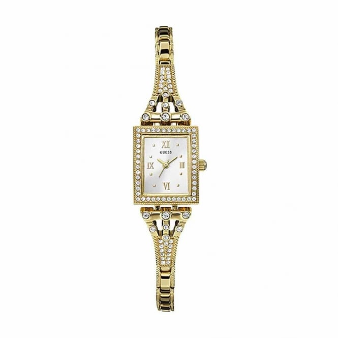 Guess Ladies Gold Plate Stone Set Scarlett Watch W0430L2