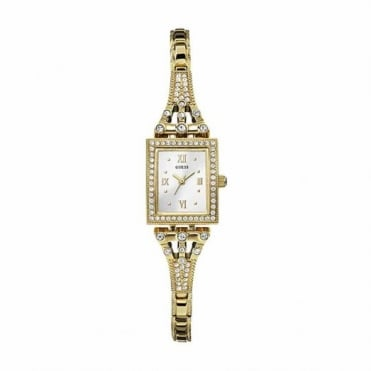 Ladies Gold Plate Stone Set Scarlett Watch W0430L2