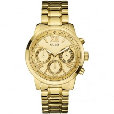 Guess Ladies' Gold Plate Sunrise Watch W0330L1