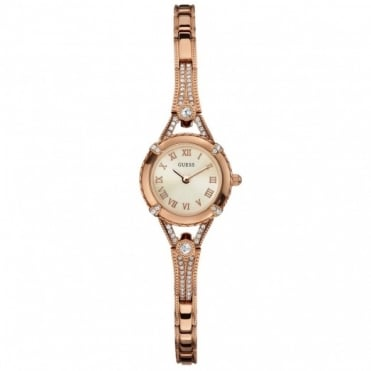 Guess Ladies Rose Plate Angelic Watch W0135L3