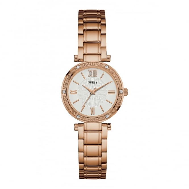 Guess Ladies' Rose Plate Park Ave South Watch W0767L3