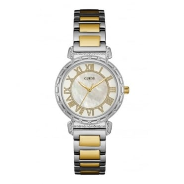 Ladies' Two Tone Stone Set South Hampton Watch W0831L3