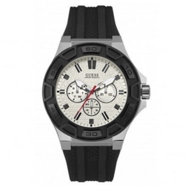 Guess Men's Black Rubber Force Watch W0674G3